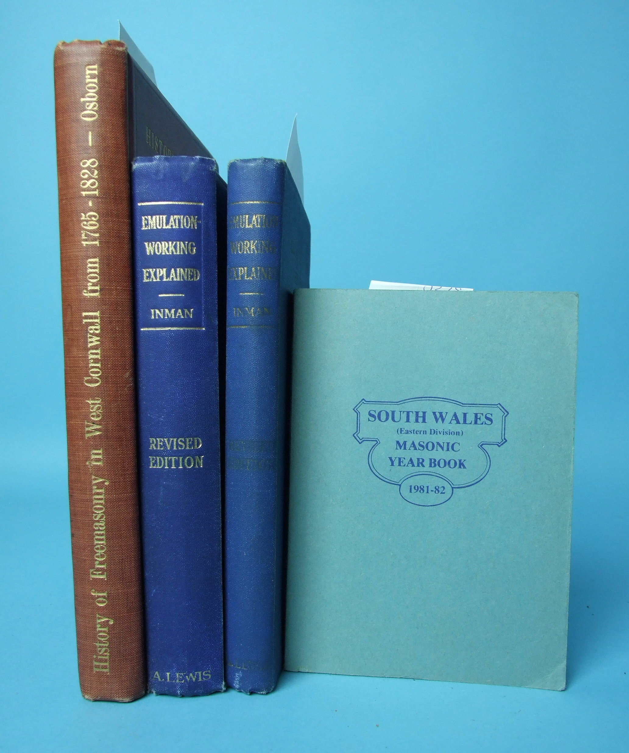 Lot 72 - Osborn (Joseph G), History of Freemasonry in West Cornwall from 1765 to 1828, edn of 400, frontis,