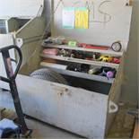 PORTABLE METAL JOB BOX W/CONTENTS (UPPER TOOL CRIB)