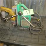 WALTER BUX ELECTRO MAGNETIC DRILL PRESS W/DEWALT DW235G DRILL (UPPER TOOL CRIB)