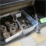 """LOT OF 2 BOXES OF 1"""" SOCKETS W/RACKET TOOL AND CASE (UPPER TOOL CRIB)"""