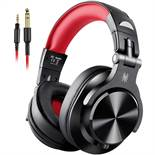 Boxed Brand New Pair of OneOdio A71 Red & Black Wired DJ Headphones RRP £50