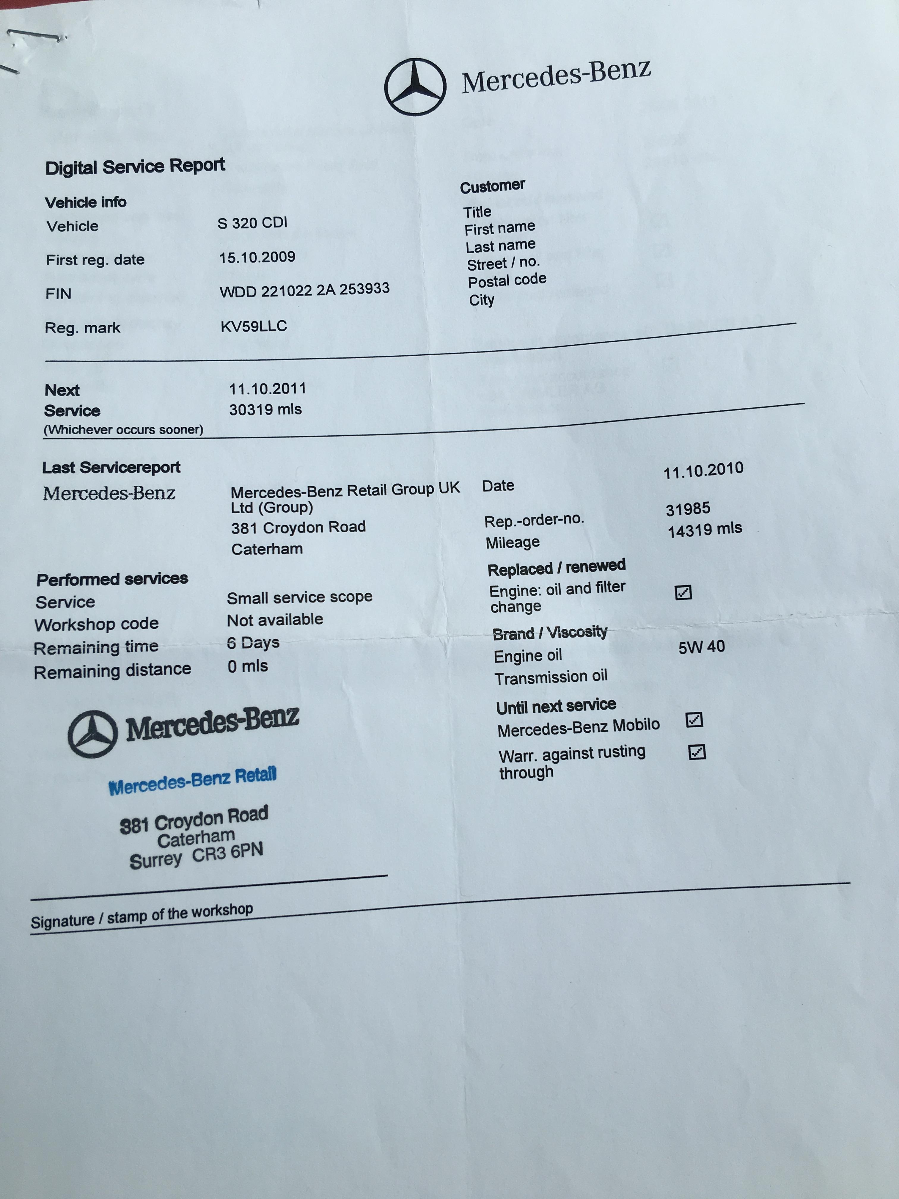 Reg 59 2009 mercedes benz s320 cdi auto log book present for Mercedes benz technical support