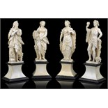 Lot 278 - ~ATTRIBUTED TO THE WORKSHOP OF JEAN-ANTOINE BELLETESTE, (1731-1811): THE FOUR SEASONSa set of four