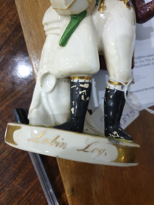 Rockingham Porcelain Theatrical Figure The comic actor John Liston as Lubin Log, after an - Image 5 of 8