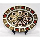 Royal Crown Derby oval meat plate Old Imari pattern number 1128 dated 2003, 41.5cm long