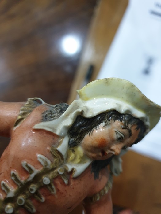 Rockingham Theatrical Porcelain Figure. Modelled as John Liston in the role of Moll Flaggon, in - Image 3 of 6