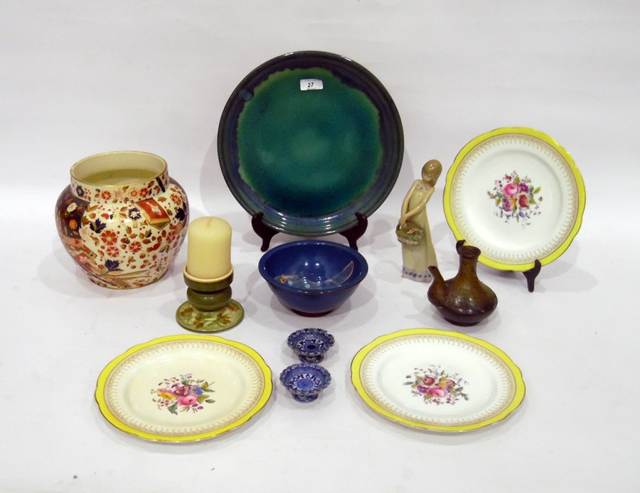 Various items of English and Continental pottery and porcelain, to include: a Ridgway 'Old Derby'