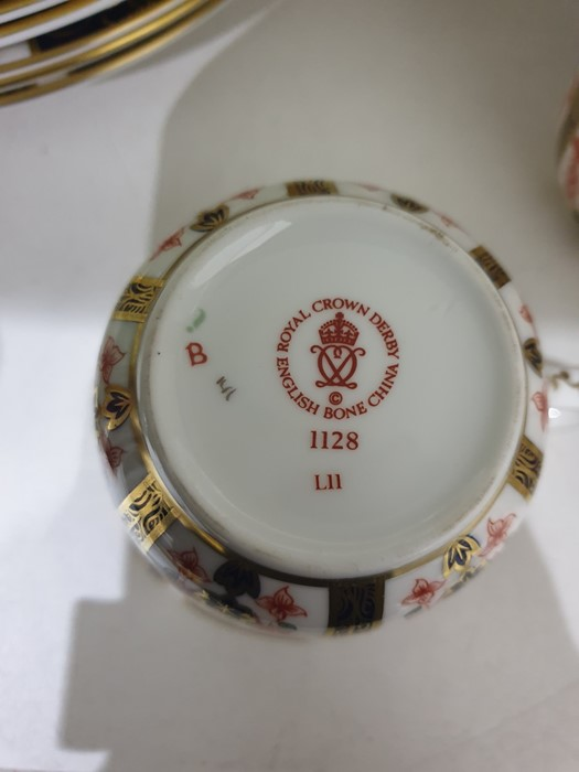 Royal Crown Derby Imari pattern part tea-service, 20th century, printed crowned iron-red marks, - Image 3 of 32