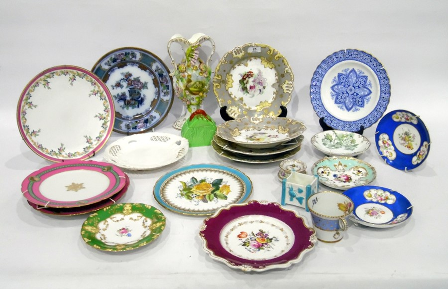 Various items of English and Continental pottery and porcelain, to include:a Staffordshire