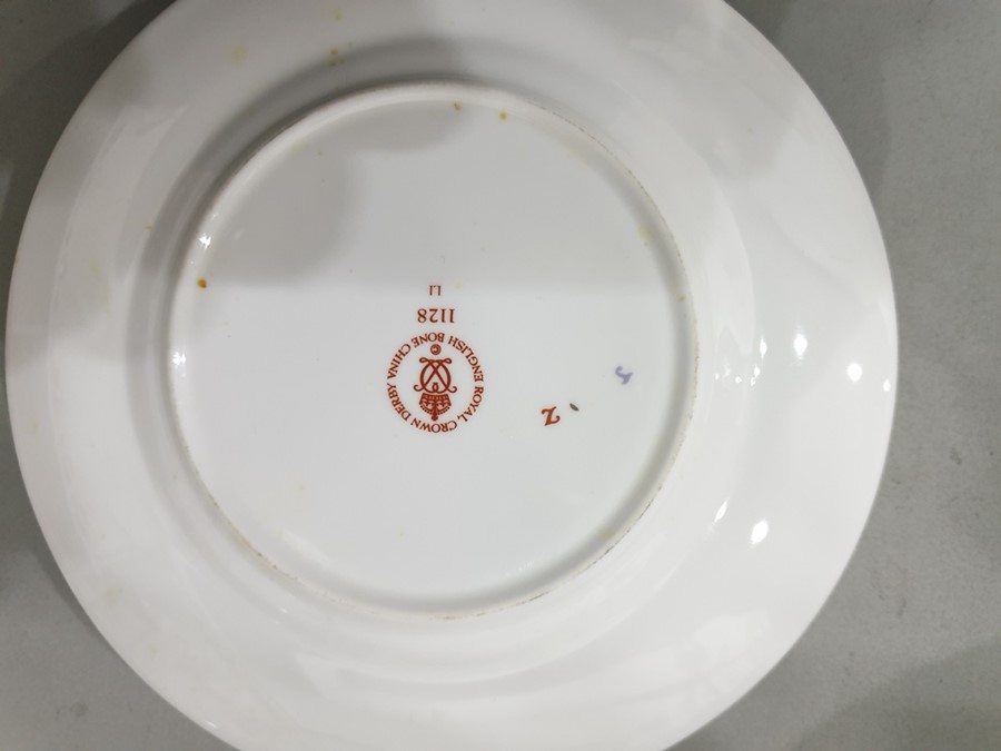 Royal Crown Derby Imari pattern part tea-service, 20th century, printed crowned iron-red marks, - Image 12 of 32