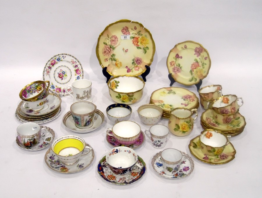Hammersley & Co. porcelain part tea-service, 20th century, printed green marks, pattern no. 13631,