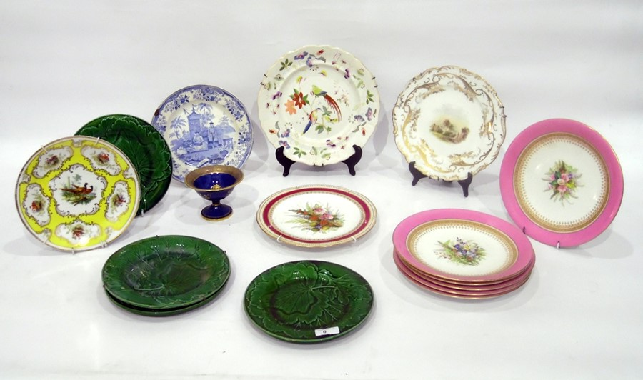 Group of English and Continental pottery and porcelain, to include: a Carlton Ware blue and gilt