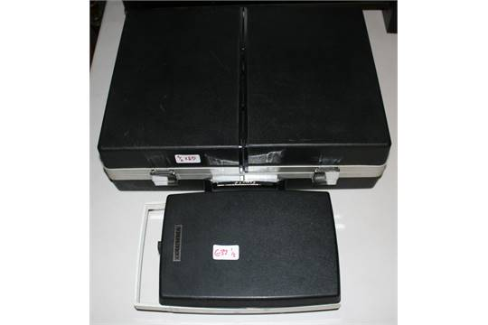 SANYO & COLUMBIA - two portable vintage record players to include a