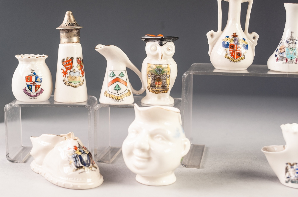 Lot 264 - TWELVE PIECES OF MINIATURE RESTED CHINA, including: CARLTON CHINA- REIGATE GRADUATION OWL,