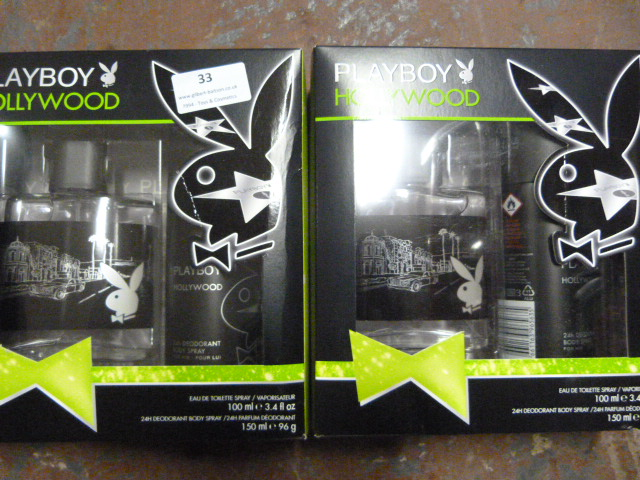 "Lot 33 - *Two Playboy ""Hollywood"" Gift Sets"