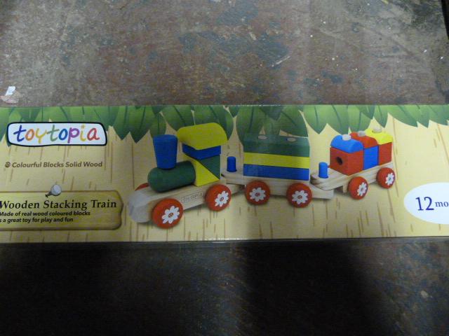 Lot 224 - *Toytopia Wooden Stacking Train