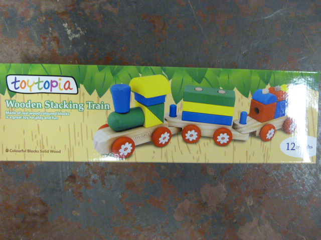 Lot 128 - *Wooden Stacking Train