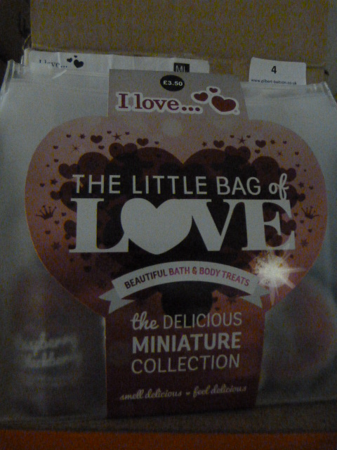 "Lot 4 - *Box of Six ""Little Bag of Love"" Bath Gift Sets"