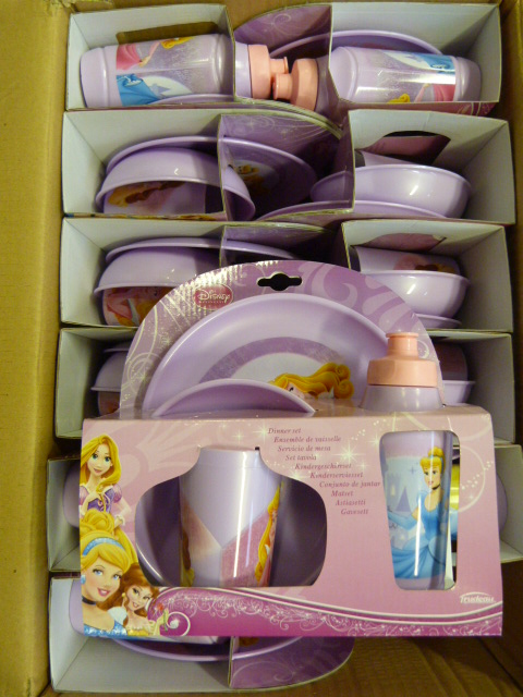Lot 349 - *Box of 12 Disney Princess Four Piece Dinner Sets