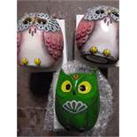 *Three House of Marbles Owl Money Boxes