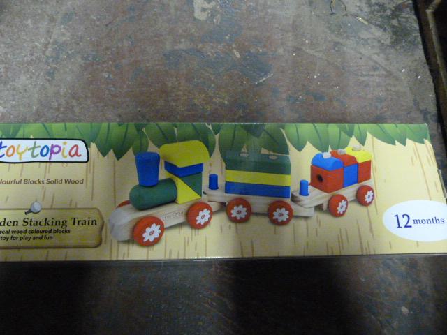 Lot 221 - *Toytopia Wooden Stacking Train