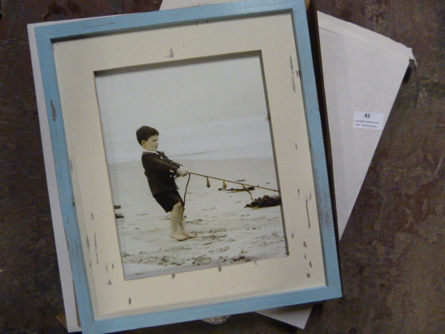 Lot 42 - *Two Shabby Chic Framed Seaside Pictures