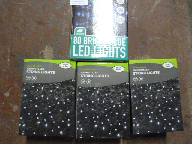 Lot 36 - *Three Boxes of 100 White LED String Lights and a