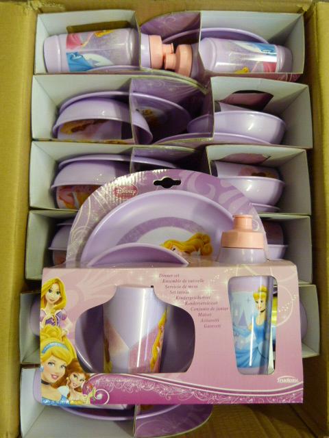 Lot 350 - *Box of 12 Disney Princess Four Piece Dinner Sets