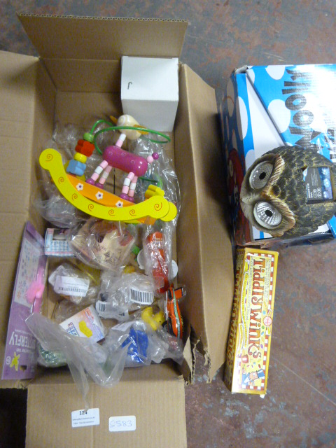 Lot 124 - *Box of Toys and Games