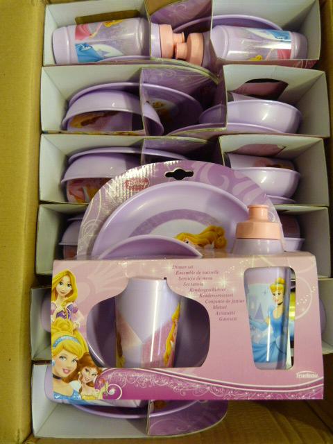 Lot 346 - *Box of 12 Disney Princess Four Piece Dinner Sets