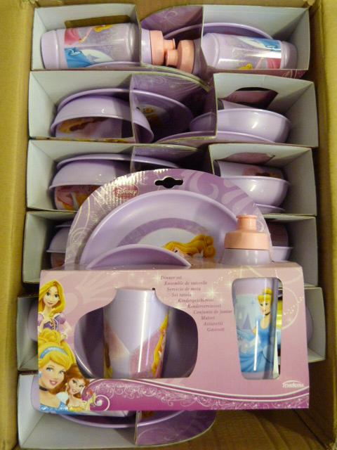 Lot 351 - *Box of 12 Disney Princess Four Piece Dinner Sets