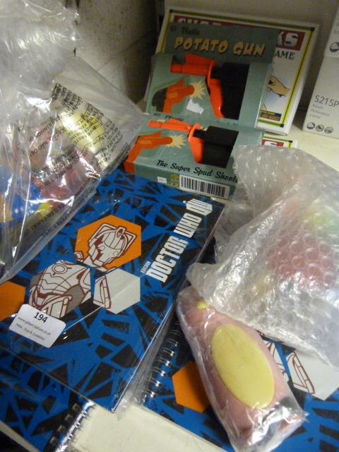 Lot 194 - *Dr Who Diaries, Spud Guns, Chopsticks Games and T