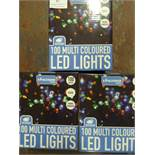 *Three Boxes of 100 Multicoloured LED Lights