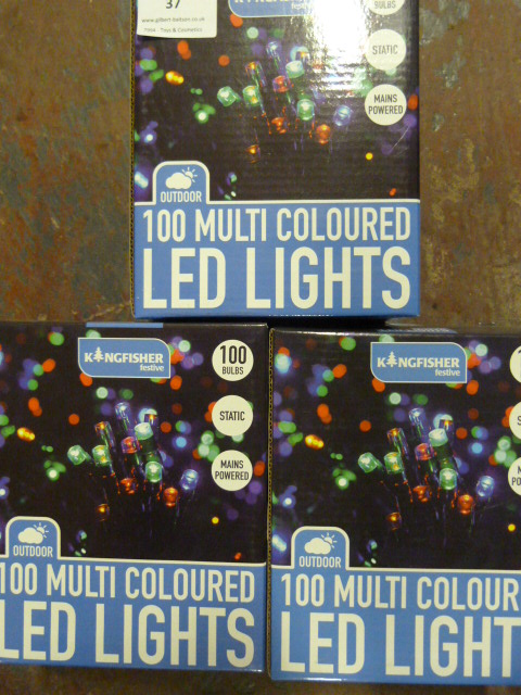 Lot 37 - *Three Boxes of 100 Multicoloured LED Lights