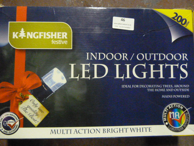 Lot 46 - *Box of 200 Indoor/Outdoor LED Lights