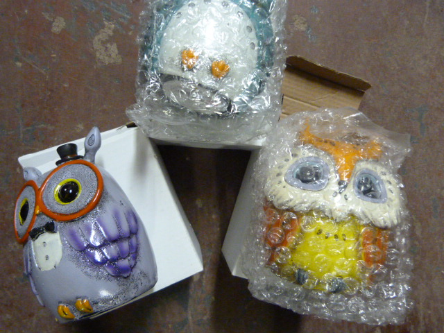 Lot 40 - *Three House of Marbles Owl Money Boxes