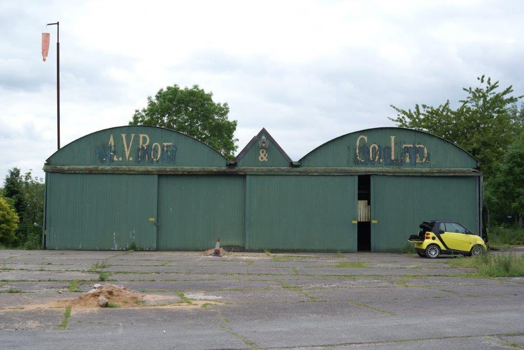 Lot 767 - *The Historic Green Avro Hangar. A rare and historic piece of early aviation heritage. Technical