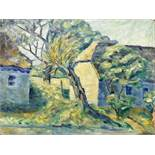 French School (20th Century) Impressionist Landscape, oil on canvas, 52 x 66cm, unframed