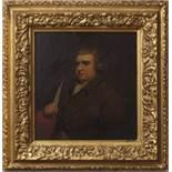 "After Joseph Wright of Derby (1734-1777), ""Erasmus Darwin"", oil on panel, 24 x 22cm"