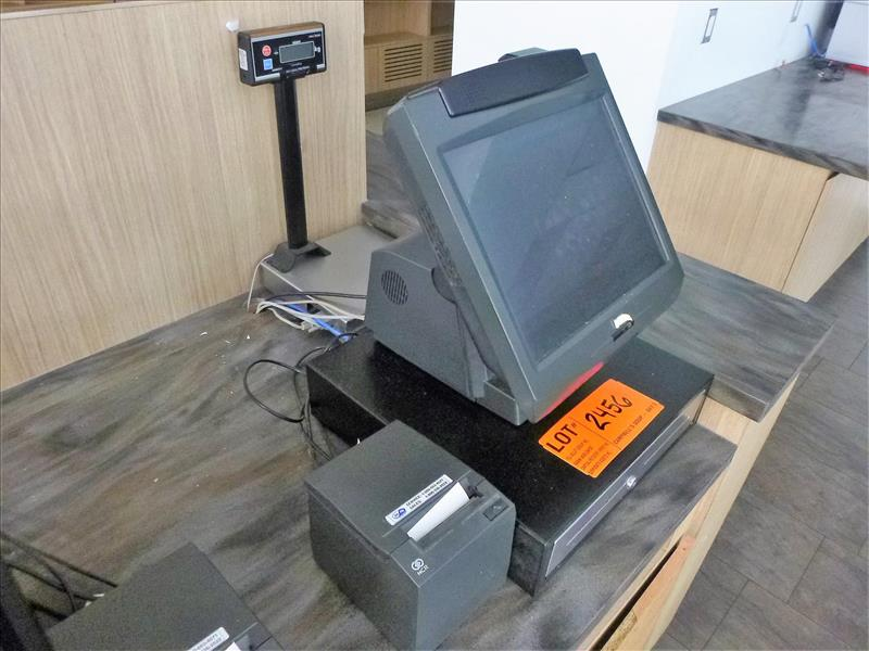 Lot 2456 - NCR computerized cash register; touch screen, card reader, printer (excluding computer/software) [