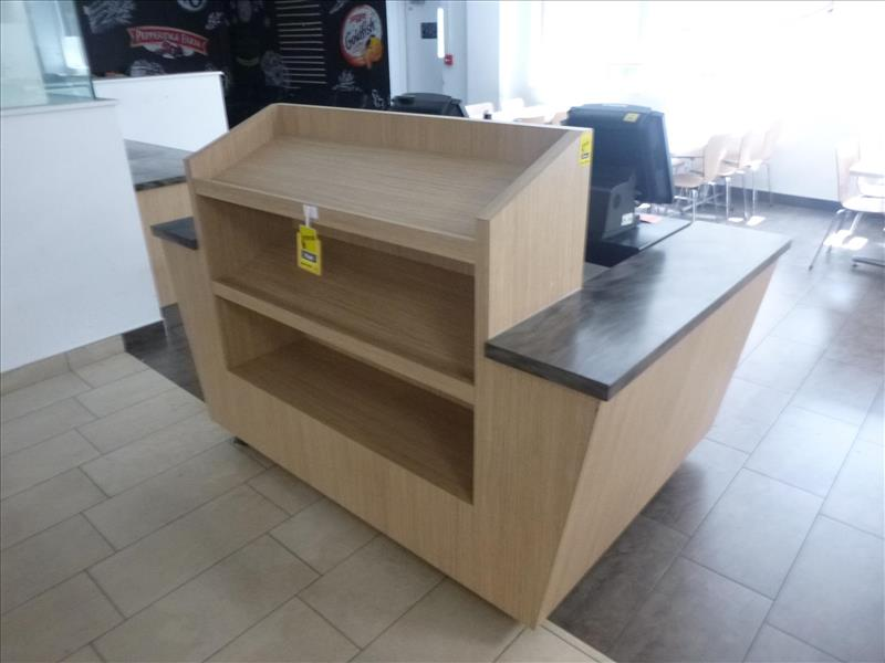 Lot 2487 - cash-counter on caster [Cafeteria/Store, 1st Floor]