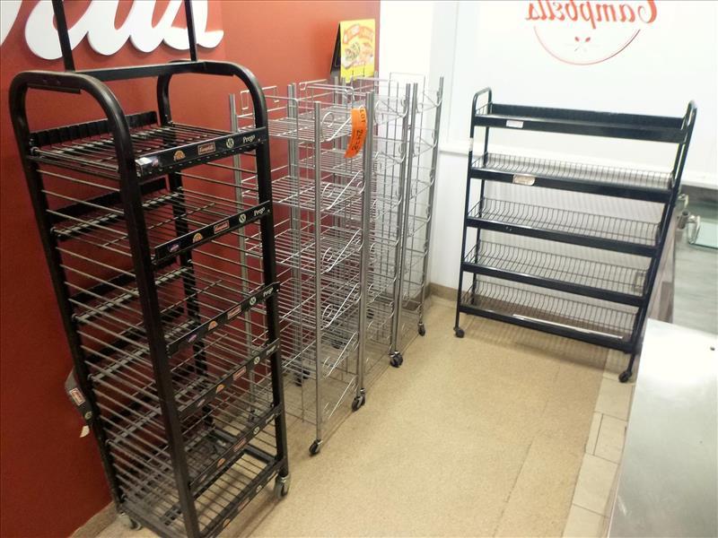 Lot 2478 - (6) misc. display racks [Cafeteria/Store, 1st Floor]