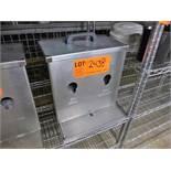 milk/cream dispenser, s/s [Kitchen Cage, 1st Floor]