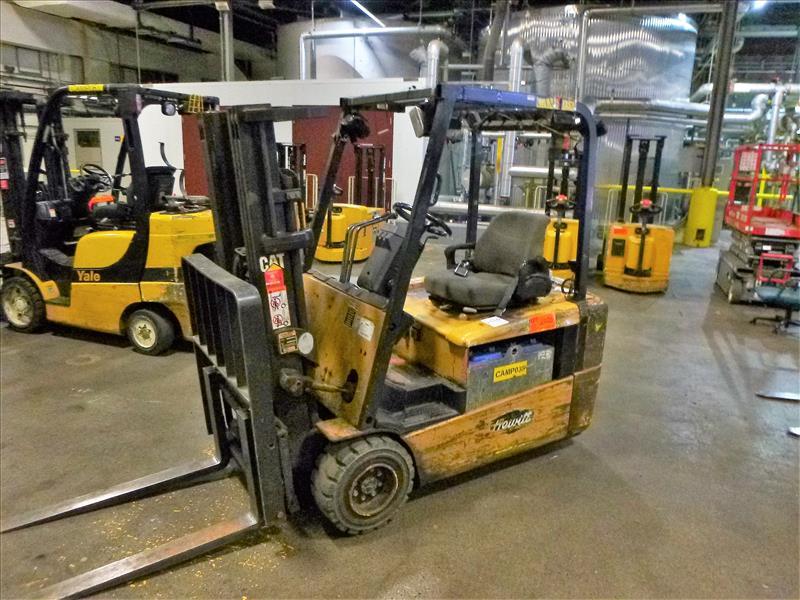 Caterpillar fork lift truck, mod. EC20KT, ser. no. ETB5A50660, 48V electric, 3750 lbs cap., 159