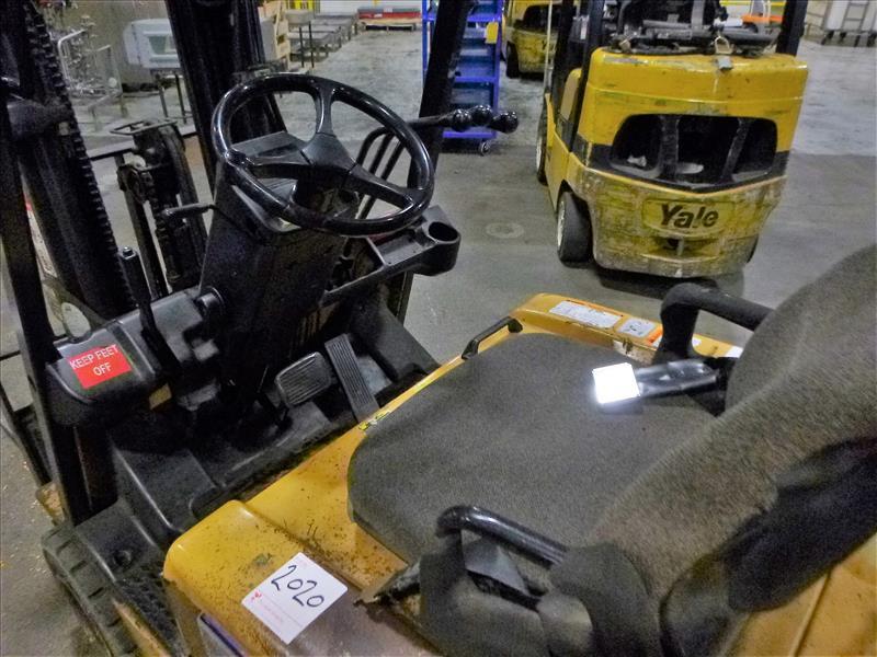 Caterpillar fork lift truck, mod. EC20KT, ser. no. ETB5A50660, 48V electric, 3750 lbs cap., 159 - Image 3 of 4