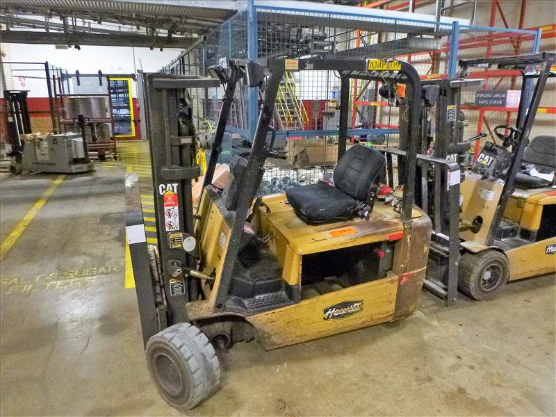 Caterpillar fork lift truck, mod. EC20KT, ser. no. ETB5A50548, 48V electric, 3750 lbs cap., 159
