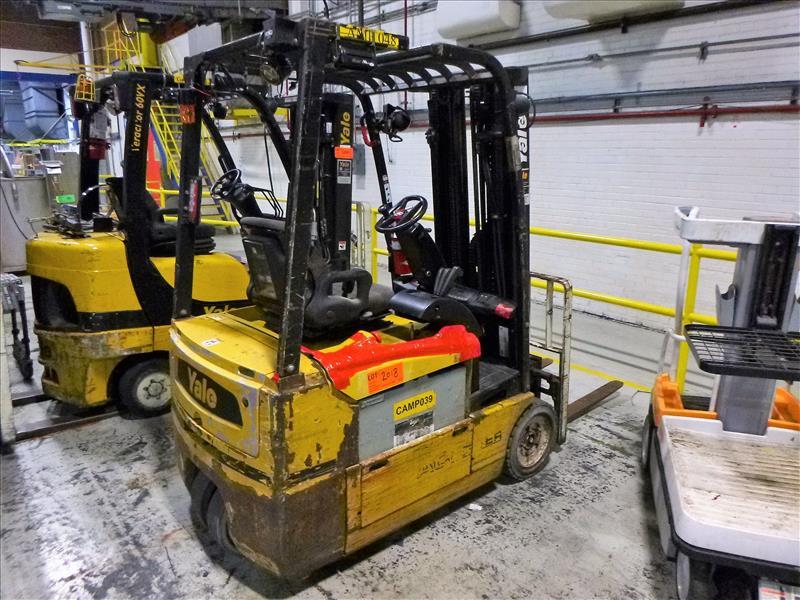 Yale fork lift truck, mod. ERP040VTHN48TE082, ser. no. F807N06010F, 48V electric, 3800 lbs cap., 187 - Image 2 of 4