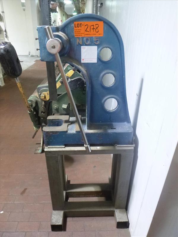 Lot 2178 - arbor press, mod. No. 5 c/w stand [Large Shop, 2nd Floor]