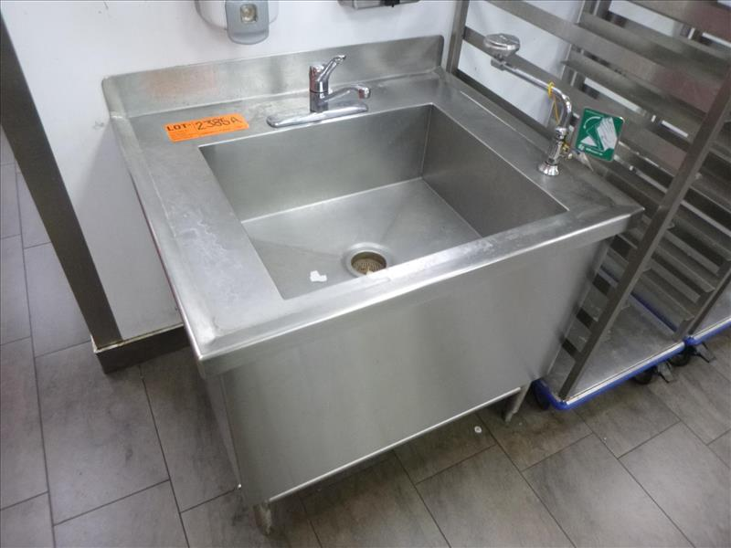 "Lot 2385A - S/S Sink 36"" x 30"" x 33"" w/Eye Wash [Kitchen, 1st Floor]"