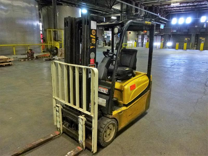 Yale fork lift truck, mod. ERP040VTN48TE076, ser. no. ???, 48V electric, 3800 lbs cap., 169 in. lift